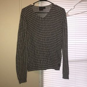 A/X Armani Exchange Gray/Blk Hooundstooth Sweater